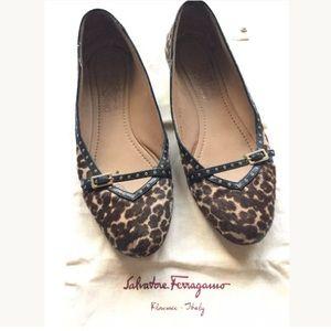 Salvatore Ferragamo Leopard Audrey Flats 7